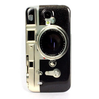 New arrivel Retro Camera Skin Hard Back Case Cover For Samsung Galaxy IV S4 I9500 Free shipping