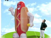 Inflatable hot dog mascot commercial used K3011