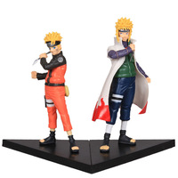 Uzumaki Naruto and Namikaze Minato 17cm 2pcs new NARUTO figure Japan Cartoon 2pcs/set Naruto doll FREE SHIPPING