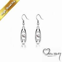 Free Shipping+5 Colors Gold Plated Secret Crystal Earrings With SWA Elements Austrian Crystal Fit For The Evening Dress