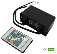 Promotion DC12V-24V,3 Channels Waterproof Black Controller+20key RF touch remote for RGB Led strips ,12V<108W,24V<216W