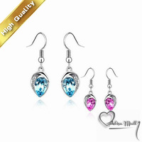 Free Shipping+2 Colors Gold Plated Good mood Crystal Earrings With SWA Elements Austrian Crystal Fit For The Evening Dress