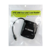 Micro Usb hub and TF/MS/SD OTG card reader for Samsung S4 I9500 S3 i9300 Note2 LG HTC smartphone keyboard camera connection kit