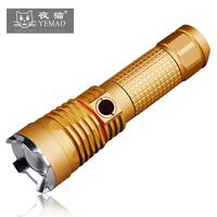 Cat big golden flower dimming t6 u2 led zoom flashlight charge 26650 glare
