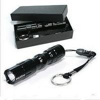 Mini portable 3w waterproof led small flashlight 5 glare number battery 1