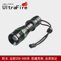 Shenhuo ledq5 mechanical zoom charge ride waterproof mini flashlight strong light