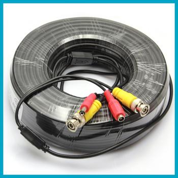 50 м BNC питание видео выход кабель для система видеонаблюдения, Бесплатная доставка