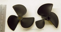 2x 3-Bladed Boat Propellers,D52mm,P80mm, Shaft:D4.8mm Left-Hand for RC Boat