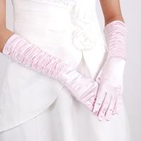 2014 Fashion Satin Long Gloves Wedding Pink Gloves Wedding Accessories China Supplier Drop Shipping