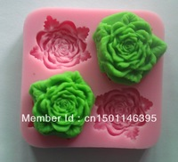 Free shipping 1PCS beautiful flower shaped Chocolate Candy Jello 3D Mold Mould Cartoon Figre/cake tools