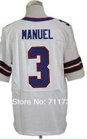 Free Shipping #3 EJ Manuel 2013 Men's Elite American Football Jersey,Embroidery and Sewing logos,Size M-3XL,Can Mix Order