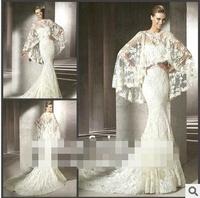 High-grade lace fishtail tail tailor's bride wedding New wedding dress mermaid Wedding dress Lace Bra