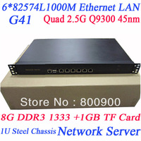 2013 new network 1U Server with Q9300 4-core quad 2.5G ROS 1000M quad core network server Intel82574L routing firewall server