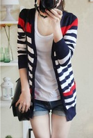 WOMAN SUIT BLAZER  BRAND JACKET Free shipping brand Brief fashion stripe cardigan thin outerwear