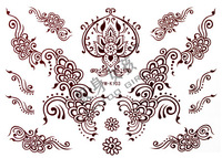 Tattoo stickers waterproof Mehndi Hand painted tattoo stickers k103