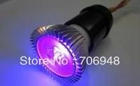 free shipping ultra violet led spot light,3w,365-378nm,220v,E27base