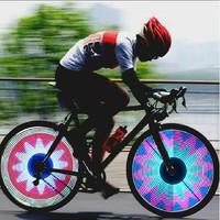 Bicycle Waterproof 16 LED 32-Sided Pattern Hot Wheels / Mountain Bike Spokes Lamps, Decorative Lights / Automatic Change
