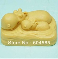Hippo family 50330 Craft Art Silicone Soap mold Craft Molds DIY Handmade soap molds