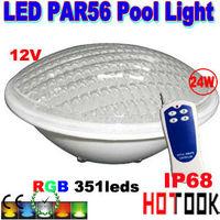 LED PAR56 pool light 24W 12V RGB IP68 351led LED Swimming Pool Light Outdoor Lighting Floodlight supernova sale CE RoHS hot sell