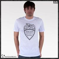 DUCATI MECCANICA BIKE  men short sleeve T-shirt cotton Lycra top