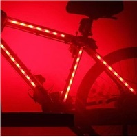 10pcs/Lot  Bicycle Lamp Mountain Bike Bicycle Decoration Lamp Spoke Light Warning Light 7 LED Lighting Free Shipping