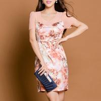 Fashion beautiful women's clothing summer sweet mulberry silk silks and satins silk one-piece dress l3520