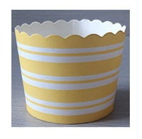 Free shipping 200pcs striped yellow baking cupcake cases muffin cups decorations  cupcake holder wedding birthday party supplies