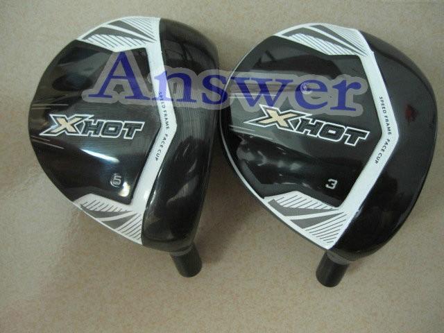 1 pc X HOT golf fairway wood 3# or 5# degree graphite shaft regular or stiff free headcover and freeship(China (Mainland))
