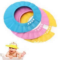 1X Safe Shampoo Shower Bathing Bath Protect Soft Cap Hat For Baby Children Kids New Free shipping & wholesale