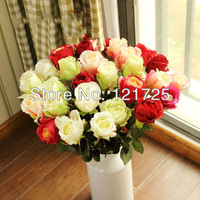 Free shipping 10pcs/lot Fashion british style single rose artificial flower decoration flower silk flower