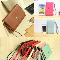 Korea Style Womens Envelope Clutch Chain Purse HandBag Shoulder Bag 6 Colors Cell Phone Bags