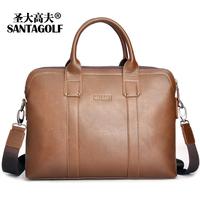 2014 Hot Sale Top Fasion Freeshipping Men Zipper Man Bag Laptop Horizontal Commercial Portable Men's Clothing Messenger Handbag