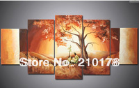 Free Shipping!!5pcs MODERN ABSTRACT HUGE WALL ART OIL PAINTING ON CANVAS LA5-020