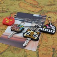 Free Shipping 5pcs/lot cartoon Silicone soft Key Caps Covers Keys Key chain Case Shell Novelty Item,Christmas Gift Wholesale