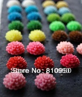 wholesales 15mm Random mix color resin rose flower/cabochon Resin pendants resin Flower for jewelry decoration