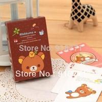 free shiping  Children 4pcs/lot poker super Meng easily bear cute little things creative personality