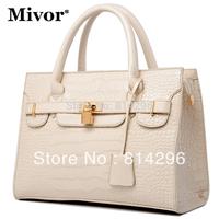 Authentic handbag fashion light wave packet crocodile grain portable oblique satchel. Free shipping