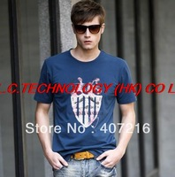 free shipping 2013 now male cotton boy T shirt man Short Sleeve shirts man Tops Brand t-shirt