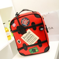 2013 14 laptop bag badge backpack travel bag candy color women's handbag school bag