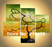 Free Shipping!!5pcs MODERN ABSTRACT HUGE WALL ART OIL PAINTING ON CANVAS LA5-025