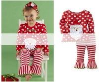 2013 new!kids set(5pcs/1lot)Christmas strong suit girls,Children's Christmas clothes,long sleeve t-shirt+pants,free shipping