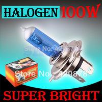H4 Super Bright White Fog Halogen Bulb Hight Power 100W Car Headlight Lamp H4