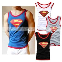 Superman Mens Vest Singlet Underwear Tank Top T Shirt 4 Size 4 Color
