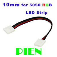 RGB LED Strip light Connector 10mm width PCB 4 pin cable Accessories Waterproof Two Ending by Express 50pcs/lot