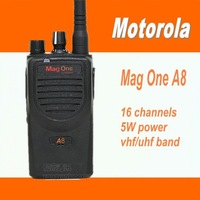 DHL freeshipping +commercial transceiver radio uhf handie radio transmitter Mag one A8 +headset for motorola walkie talkie10km