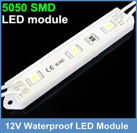 Fedex Free Shipping White LED module three  Chip 5050 SMD led waterproof led lights  for plastic characters for  LED logo