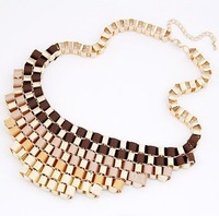 Europe fashion Western Gradient retro metal exaggerate temperament short necklace 15 Dollars (Mixed Order) Free Shipping!2013