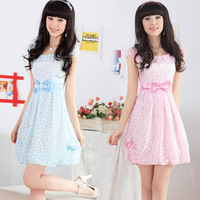 Girls short-sleeve fresh organza skirt new arrival summer juniors clothing princess one-piece dress
