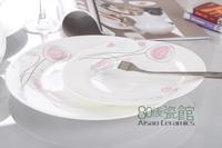 Princess bone china tableware set flat plate plate flat plate steak dish ceramic