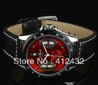 Classic Mens Skeleton Mechanical Watch cool Mechanical watch Wrist Watch 2013 Gift Free Ship